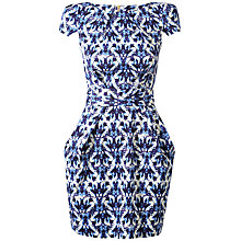 Buy Closet Dual Print Tie Dress, Blue Online at johnlewis.com