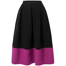 Buy Almari Contrast Hem Skirt, Black/Pink Online at johnlewis.com