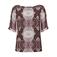 Buy Mint Velvet Ellie Print Top, Multi Online at johnlewis.com
