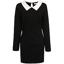 Buy True Decadence Contrast Collar Dress, Black/White Online at johnlewis.com