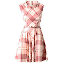 Buy Closet Big Check Print Dress, Pale Pink Online at johnlewis.com