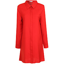 Buy True Decadence Long Sleeve Shirt Dress, Red Online at johnlewis.com