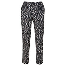 Buy Mint Velvet Lottie Print Capri Trousers, Grey Online at johnlewis.com