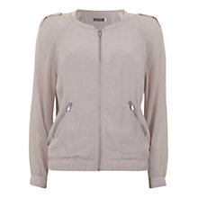 Buy Mint Velvet Georgette Bomber Jacket, Pale Pink Online at johnlewis.com