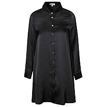 Buy True Decadence Satin Long Sleeve Shirt Dress, Black Online at johnlewis.com