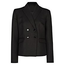 Buy Mango Linen Blend Blazer, Black Online at johnlewis.com