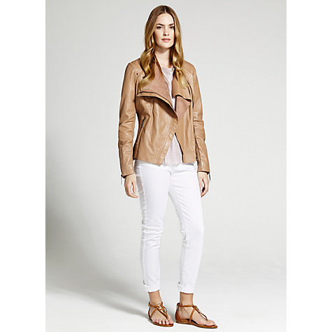 Buy Mint Velvet Organic Leather Jacket Online at johnlewis.com
