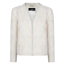 Buy Mango Jacquard Jacket, Natural White Online at johnlewis.com