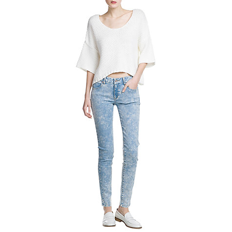 Buy Mango Super Slim Fit Pepper Jeans, Light Pastel Blue Online at johnlewis.com