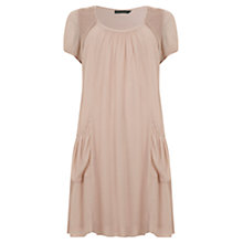 Buy Mint Velvet Pintuck Dress, Pale Pink Online at johnlewis.com