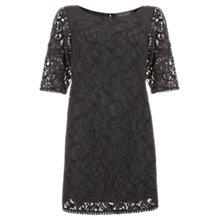 Buy Mint Velvet Lace T-Shirt Dress, Slate Online at johnlewis.com