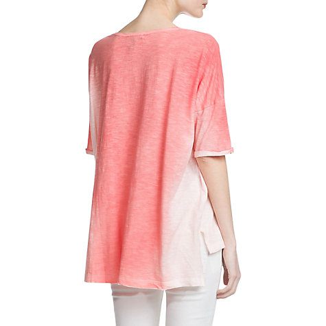 Buy Mango Ombre T-Shirt, Medium Red Online at johnlewis.com