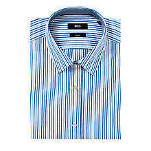 Buy BOSS Ronny Stripe Long Sleeve Shirt Online at johnlewis.com