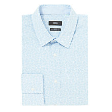 Buy BOSS Ronny Long Sleeve Shirt, White/Blue Online at johnlewis.com