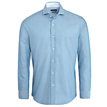 Buy BOSS Sean Long Sleeve Shirt, Blue Online at johnlewis.com