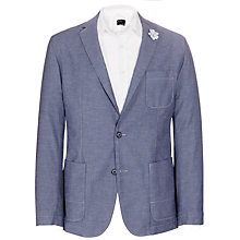Buy BOSS Medvin Cotton Jacket, Navy/White Online at johnlewis.com