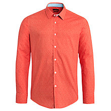 Buy BOSS Ronny Geo Print Long Sleeve Shirt, Red Online at johnlewis.com