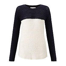 Buy John Lewis Capsule Collection Colour Block Jumper, Ivory/Navy Online at johnlewis.com