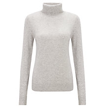 Buy John Lewis Cashmere Roll Neck Jumper, Grey Online at johnlewis.com