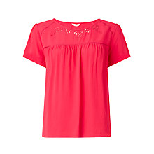 Buy Collection WEEKEND by John Lewis Floral Cut-Out Top Online at johnlewis.com
