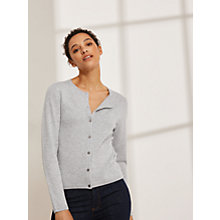 Buy John Lewis Cashmere Crew Neck Cardigan, Grey Online at johnlewis.com