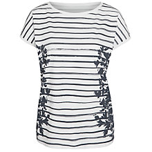 Buy John Lewis Stripe Floral Print T-Shirt Online at johnlewis.com
