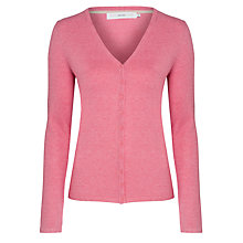 Buy John Lewis V-Neck Mini Button Cardigan, Pink Marl Online at johnlewis.com