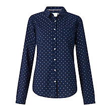 Buy Collection WEEKEND by John Lewis Ditsy Bird Print Shirt, Navy/Calypso Coral Online at johnlewis.com