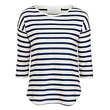 Buy Collection WEEKEND by John Lewis Scallop Stripe Top Online at johnlewis.com