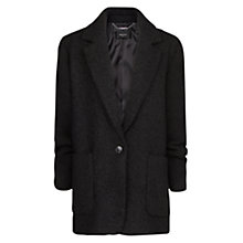 Buy Mango Wool-Blend Oversized Coat, Black Online at johnlewis.com