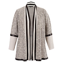 Buy Chesca Trim Space Cardigan, Grey Online at johnlewis.com