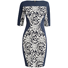 Buy Closet Tapestry Bodycon Dress, Navy Online at johnlewis.com