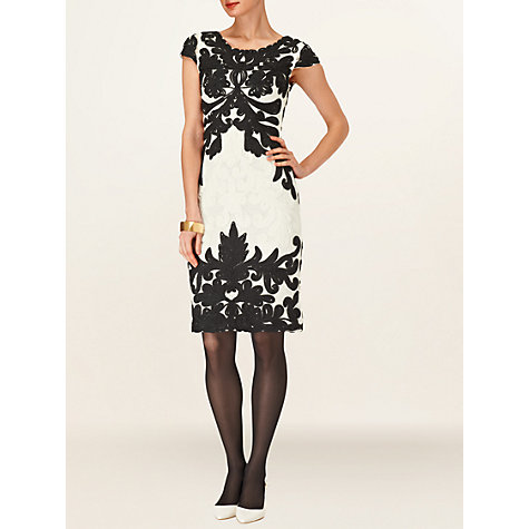 Buy Phase Eight Milano Venezia Tapework Dress, Ivory Online at johnlewis.com