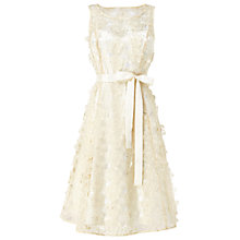 Buy Phase Eight Lulu Flower Wedding Dress, Cream Online at johnlewis.com