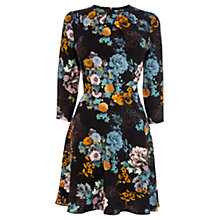 Buy Oasis Sketch Floral Skater Dress, Multi Black Online at johnlewis.com