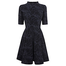 Buy Warehouse Washed Denim Jacquard Dress, Blue Pattern Online at johnlewis.com