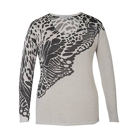 Buy Chesca Lurex Butterfly Jumper, Silver Online at johnlewis.com