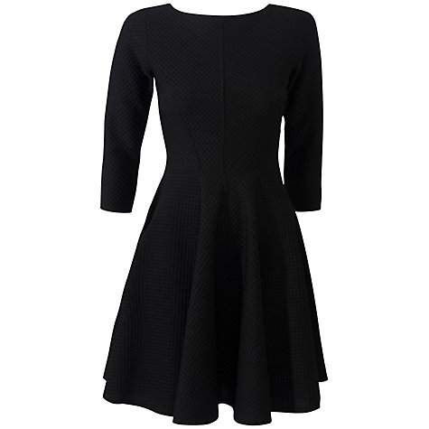 Buy Closet Full Circle Waffle Dress, Black Online at johnlewis.com