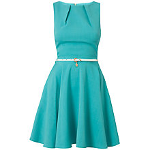 Buy Closet Belt Dress, Aqua Online at johnlewis.com