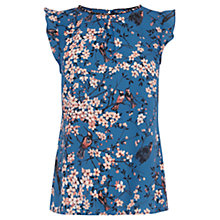 Buy Oasis Oriental Bird Top, Multi Blue Online at johnlewis.com