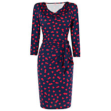 Buy Phase Eight Heart Print Jersey Dress, Navy/Pink Online at johnlewis.com