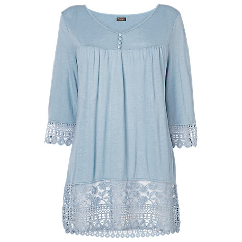Buy Phase Eight Adella Lace Hem Top, Dusty Jade Online at johnlewis.com