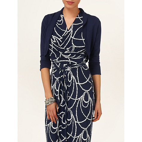 Buy Phase Eight Shawl Collar Bolero, Navy Online at johnlewis.com