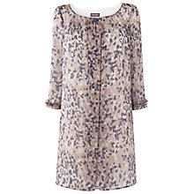 Buy Phase Eight Alissa Print Silk Tunic, Pink/Grey Online at johnlewis.com