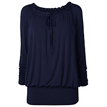 Buy Phase Eight Made in Italy Gabrielle Gypsy Top, Navy Online at johnlewis.com
