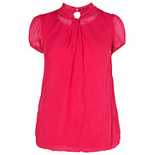Buy Phase Eight Liana Silk Blouse, Azalea Online at johnlewis.com