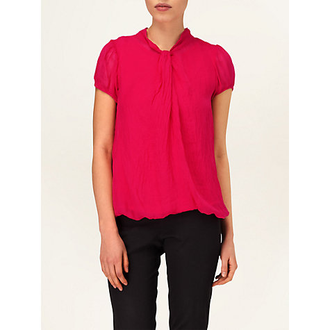 Buy Phase Eight Made in Italy Liana Silk Blouse, Azalea Online at johnlewis.com