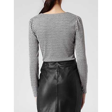 Buy Reiss Delorina Top, Black/White Online at johnlewis.com