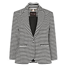 Buy Phase Eight Manhattan Miranda Stripe Jacket, Black/Ivory Online at johnlewis.com