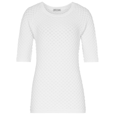 Buy Reiss Orchid Top, White Online at johnlewis.com